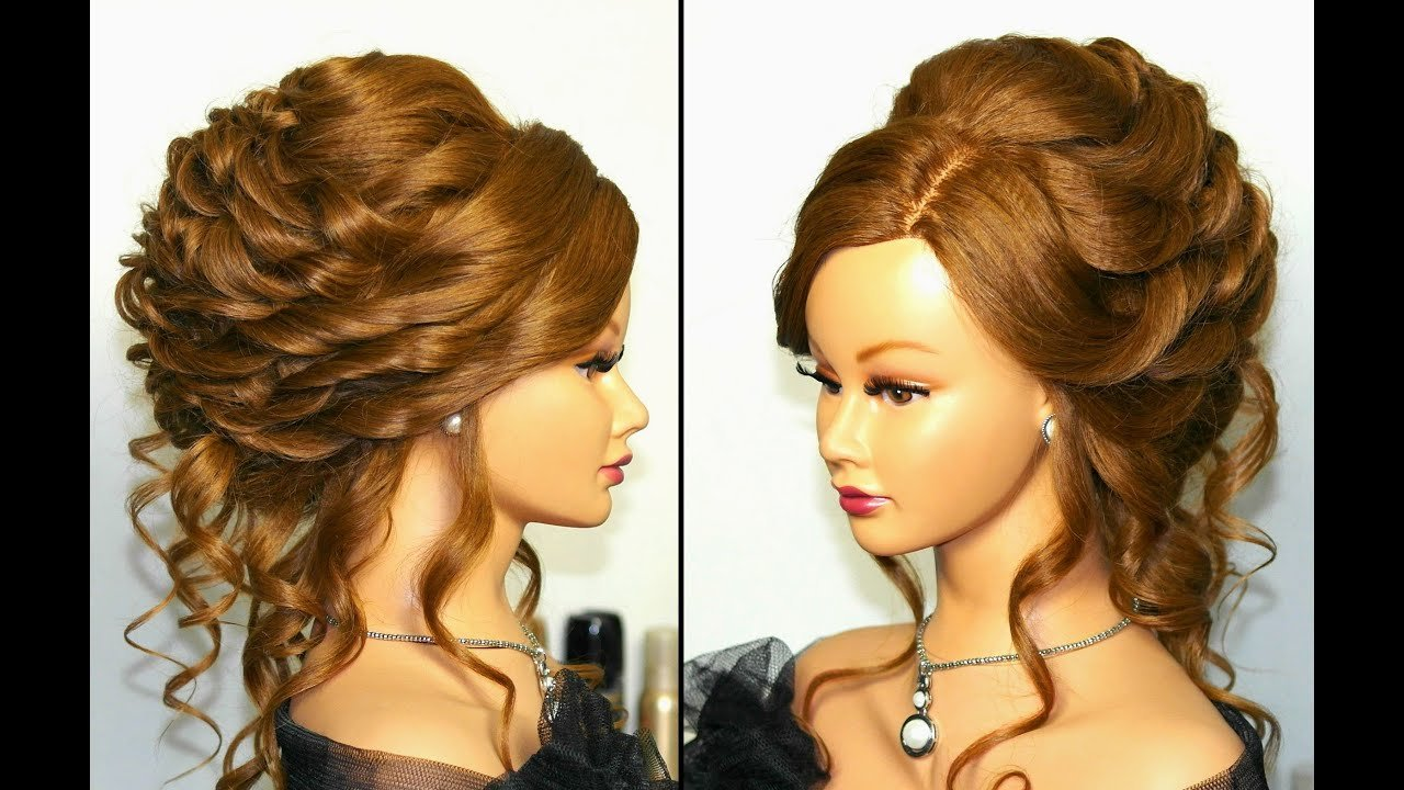 The Best Romantic Bridal Wedding Hairstyle For Long Hair Tutorial Pictures