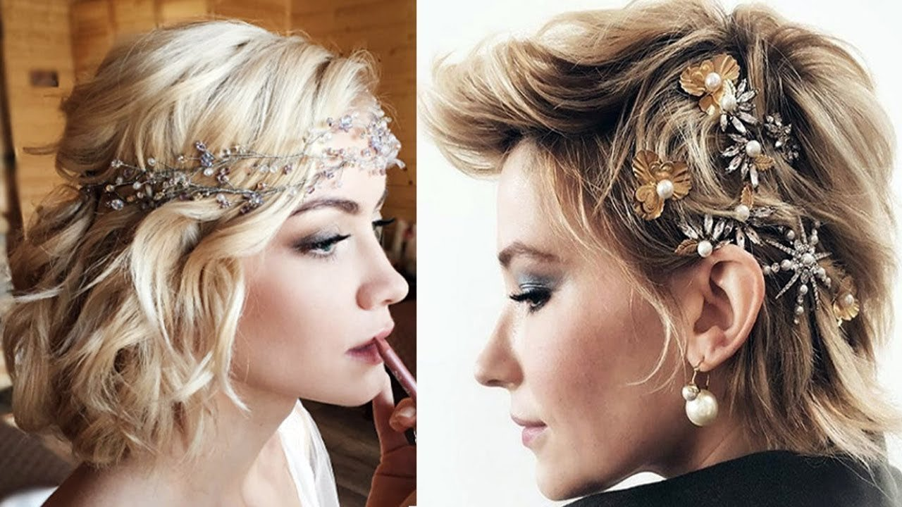 The Best 40 Short Hairstyles For Wedding Party Bridesmaids Short Pictures