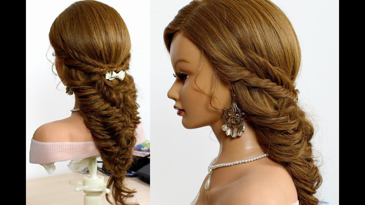 The Best Easy Bridal Hairstyle For Long Hair Tutorial Fishtail Pictures