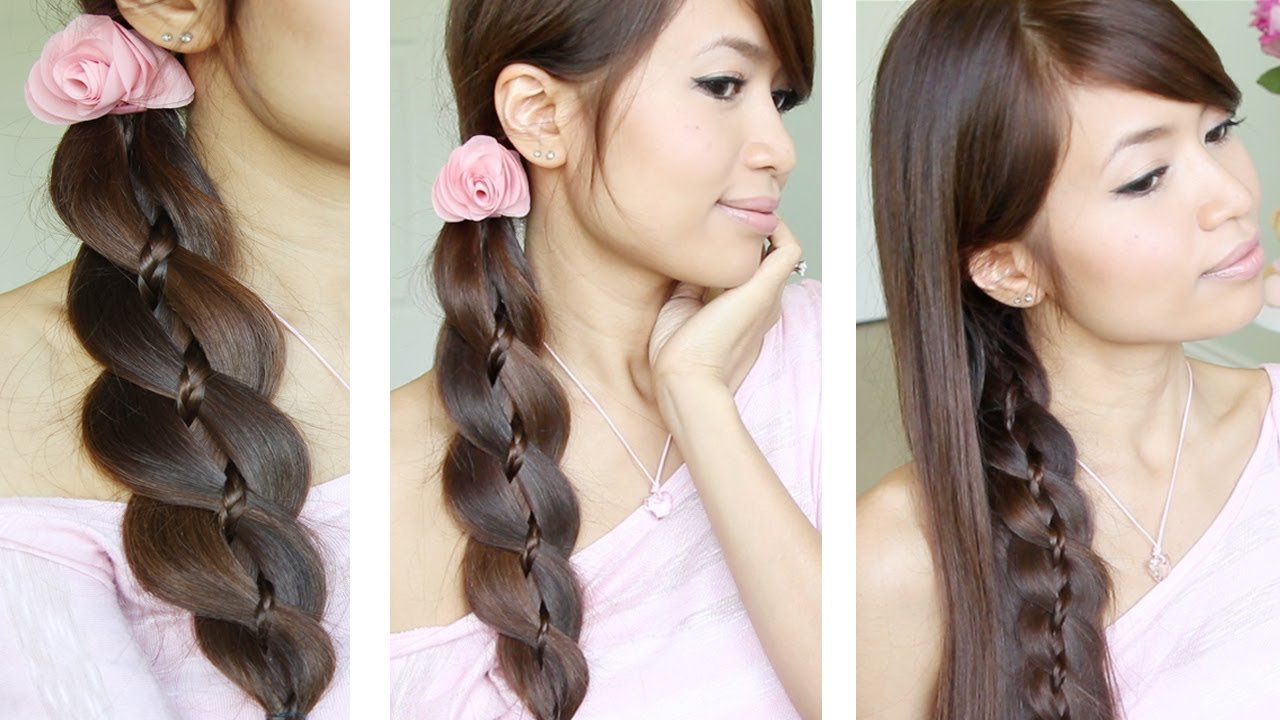 The Best Unique 4 Strand Braid Braid In Braid Hairstyles For Pictures