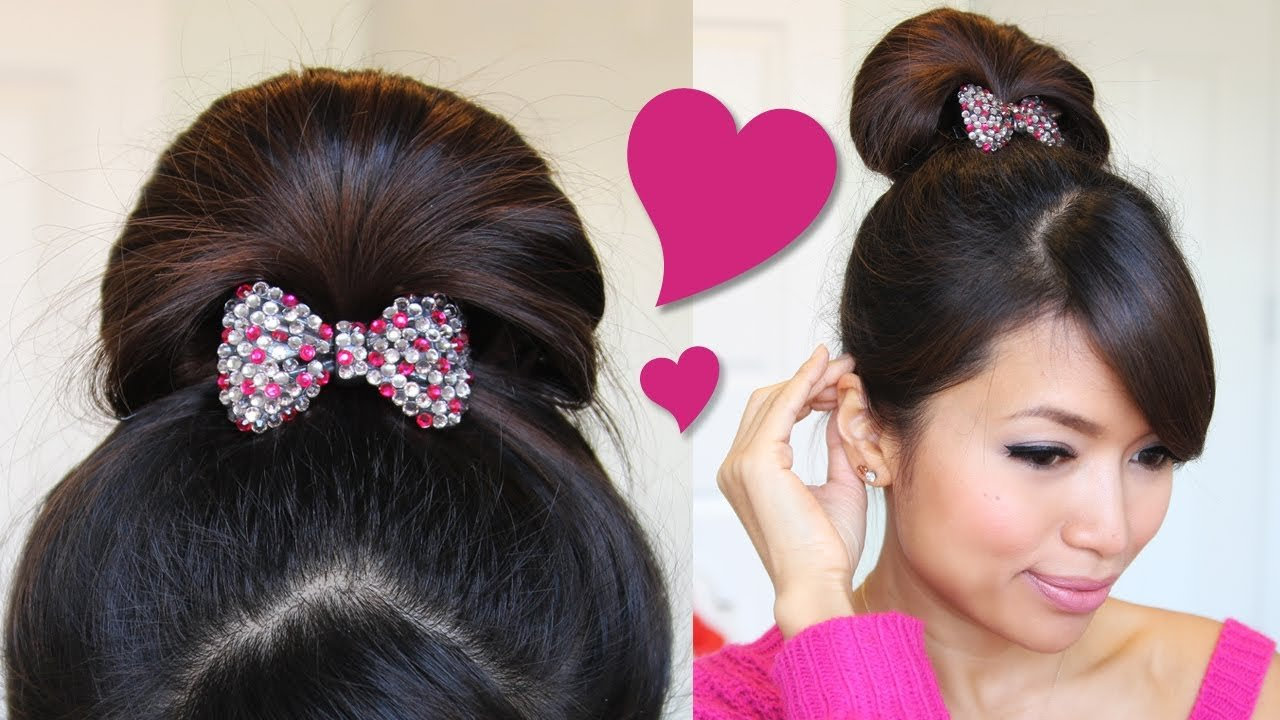 The Best 1 Minute Perfect Fan Bun Updo Hairstyle Hair Tutorial Pictures