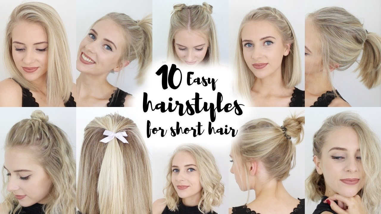 The Best 10 Easy Hairstyles For Short Hair Youtube Pictures