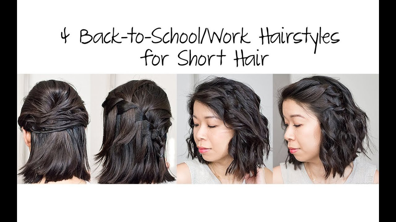 The Best 4 Easy 5 Min Back To School Work Hairstyles For Short Hair Pictures