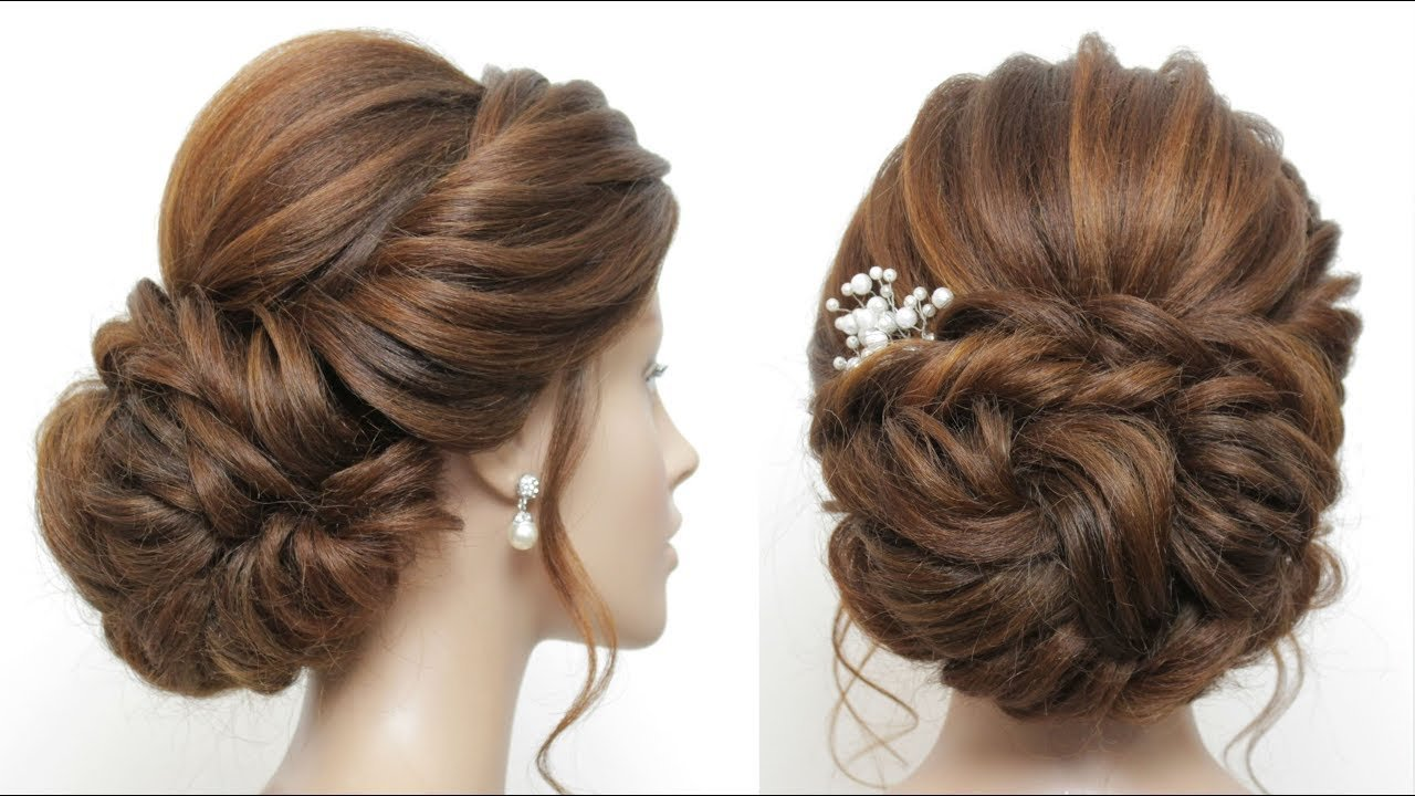 The Best New Low Messy Bun Bridal Hairstyle For Long Hair Wedding Pictures