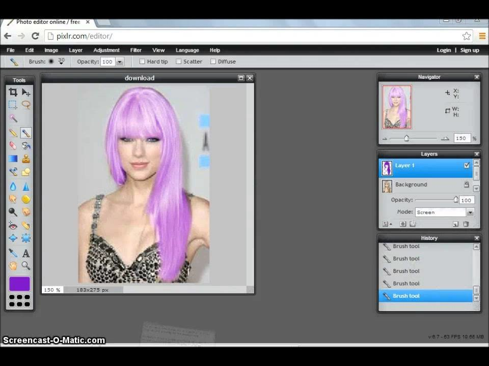 The Best How To Change Hair Color Easily On Pixlr Youtube Pictures