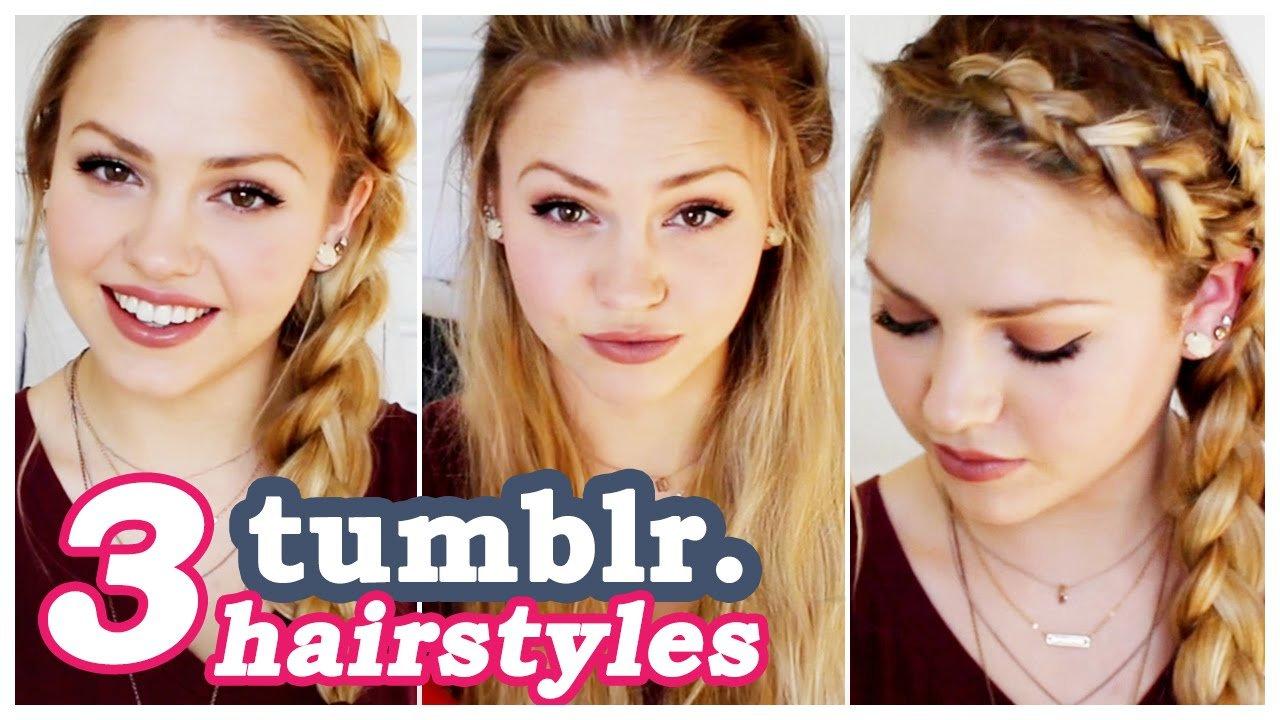 The Best 3 Easy Tumblr Hair Tutorials Youtube Pictures