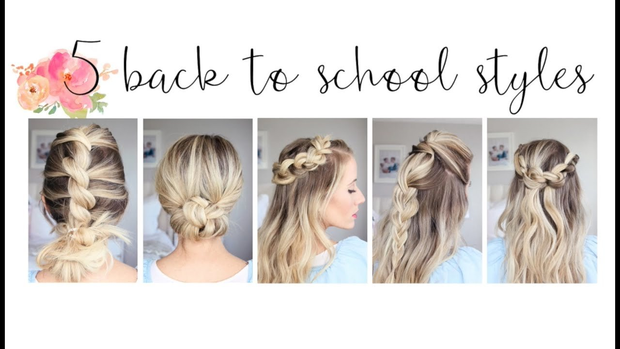 The Best 5 Easy Back To School Hairstyles Cute Girls Hairstyles Pictures