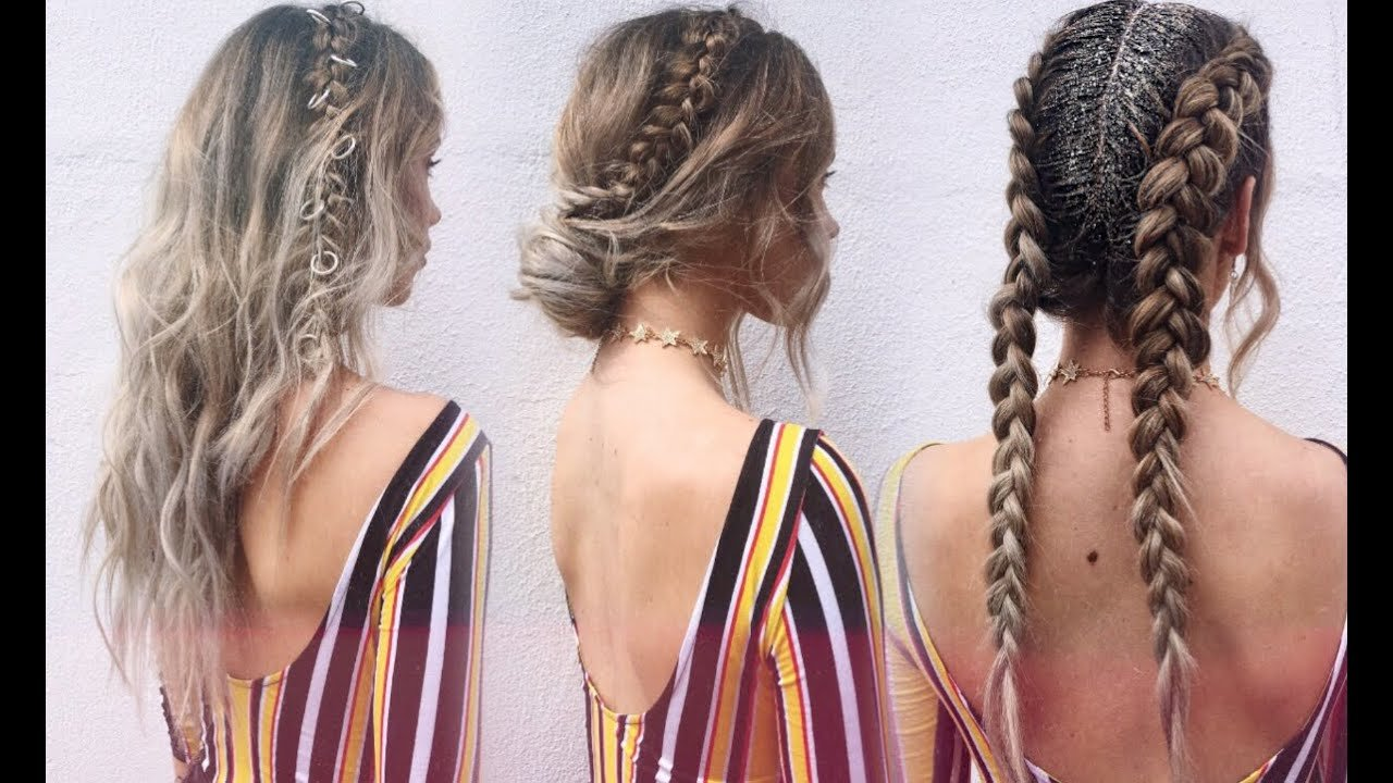 The Best 3 Festival Hairstyles ☆ Youtube Pictures