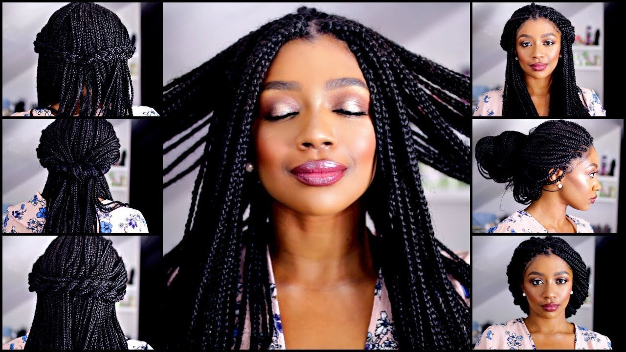 The Best 10 Quick And Easy Box Braid Hairstyles Youtube Pictures