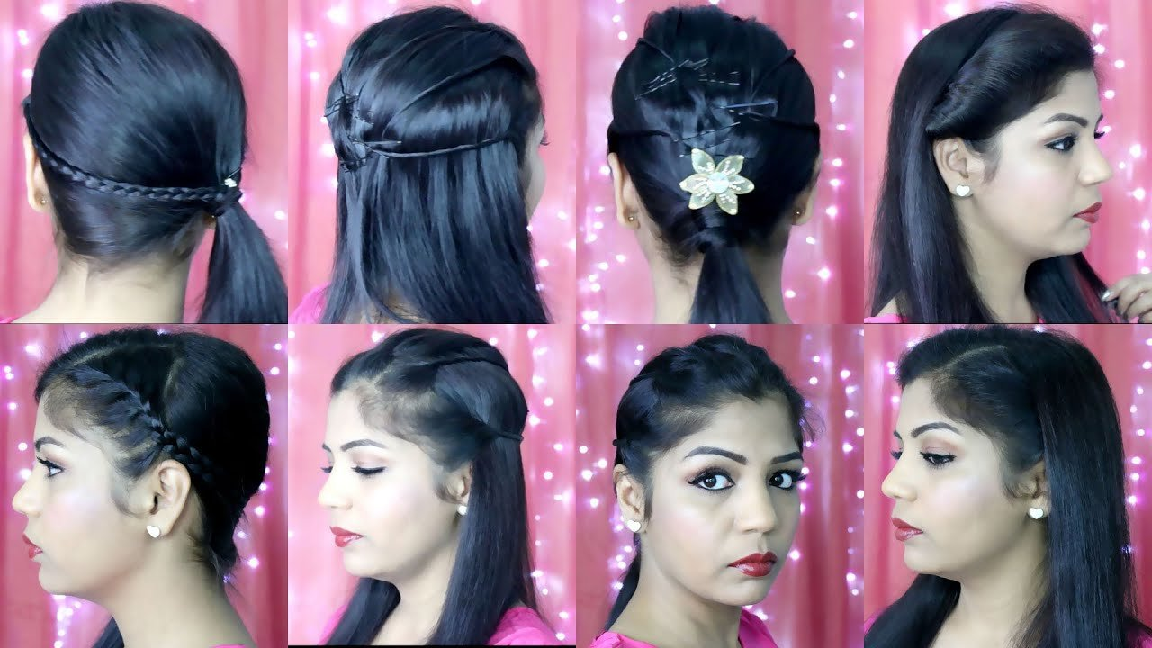 The Best 4 Quick And Easy Hairstyles Indian Party Heatless Pictures