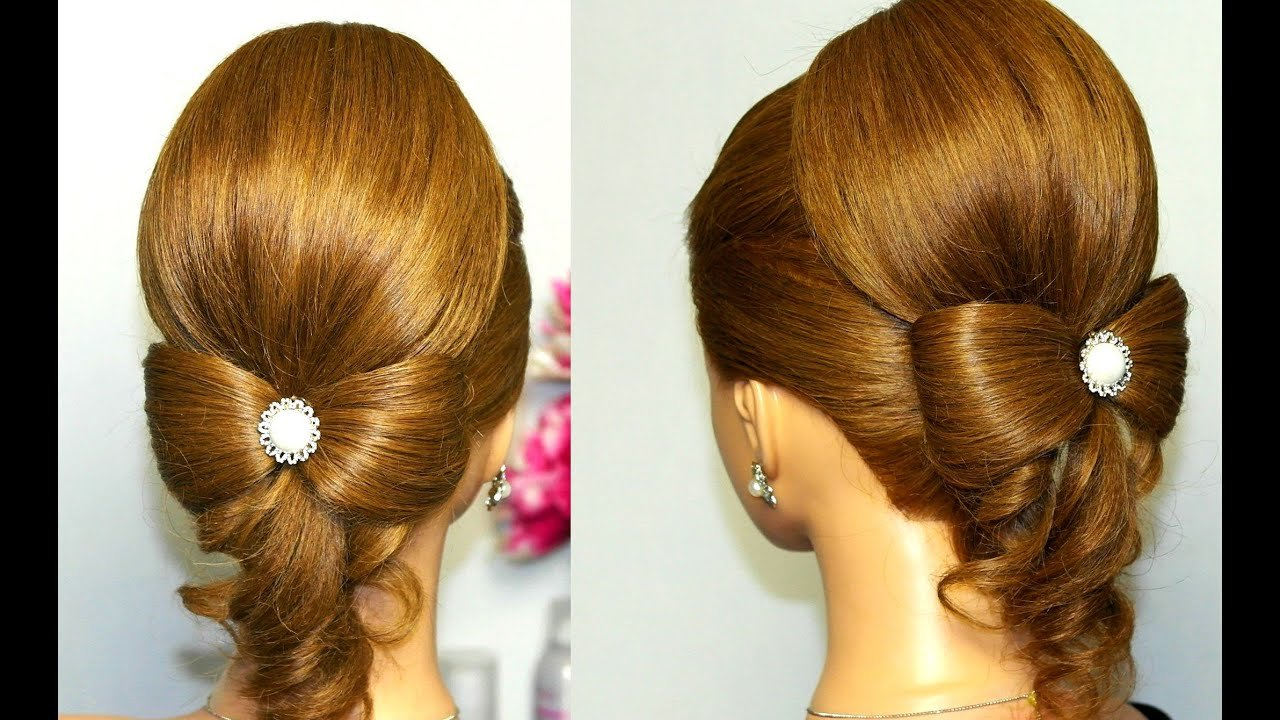 The Best Hairstyle For Long Hair Hair Bow Wedding Updo Tutorial Pictures