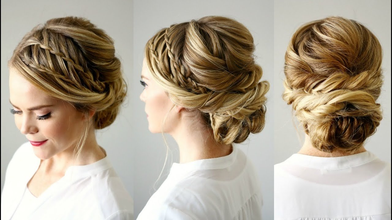 The Best Double Waterfall Braid Updo Missy Sue Youtube Pictures