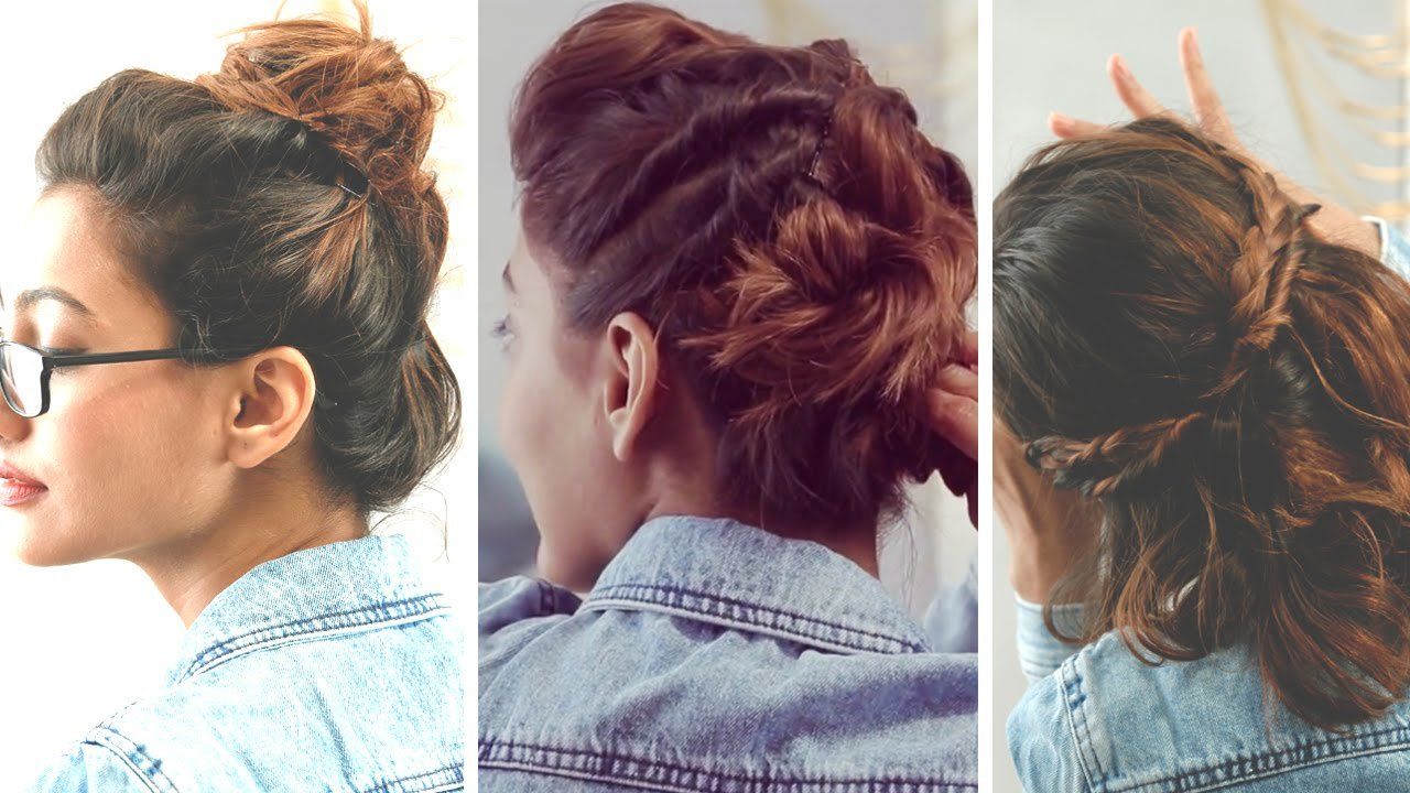 The Best 3 Quick And Easy Hairstyles For Short Hair No Heat Pictures