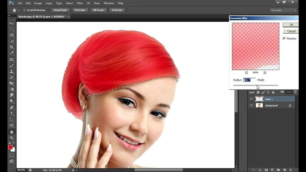 The Best How To Change Hair Color In Photoshop Cs6 Youtube Pictures