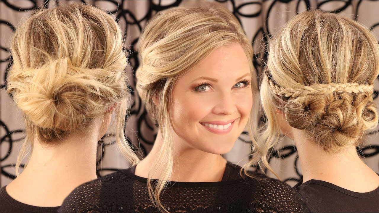 The Best 2 Messy Bun Up Dos Youtube Pictures