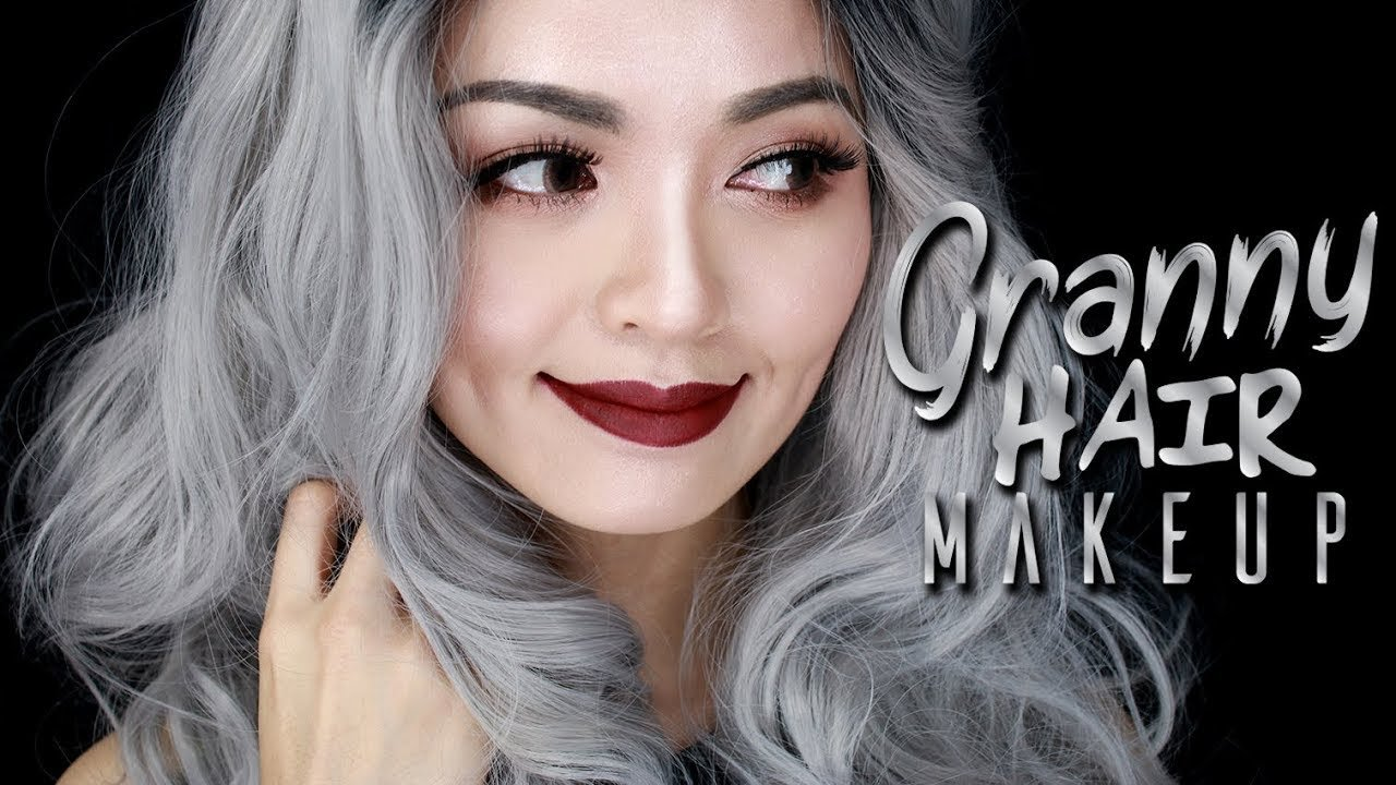 The Best Granny Hair Makeup Makeup For Grey Hair Youtube Pictures