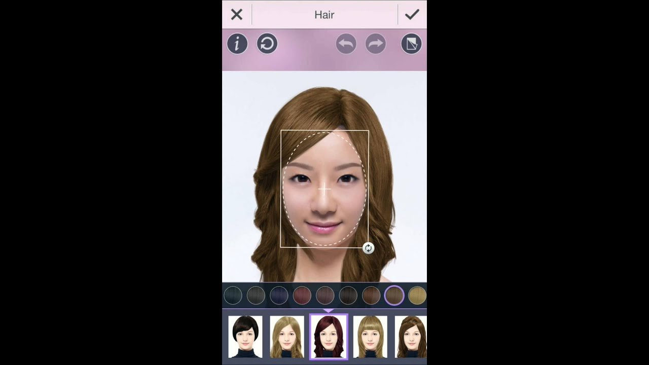 The Best Youcam Makeup Hair Style Feature Try Out A New Hairstyle And Color Youtube Pictures