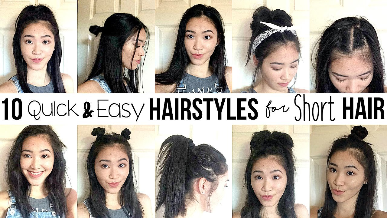 The Best 10 Quick Easy Hairstyles For Short Hair How I Style Pictures