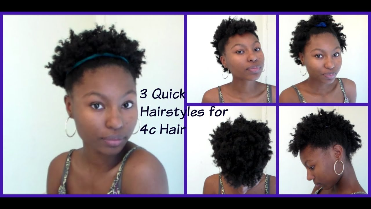 The Best 3 Quick And Easy Hairstyles For Short Natural Hair 4C Pictures