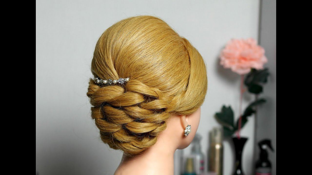 The Best Bridal Prom Updo Hairstyle For Long Hair Youtube Pictures
