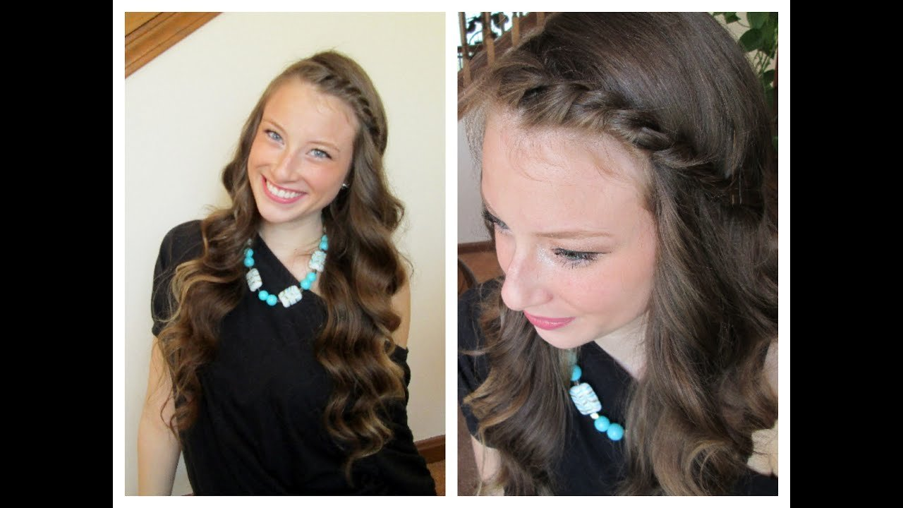 The Best Wavy Curls Front Twist Spring Hairstyle Youtube Pictures