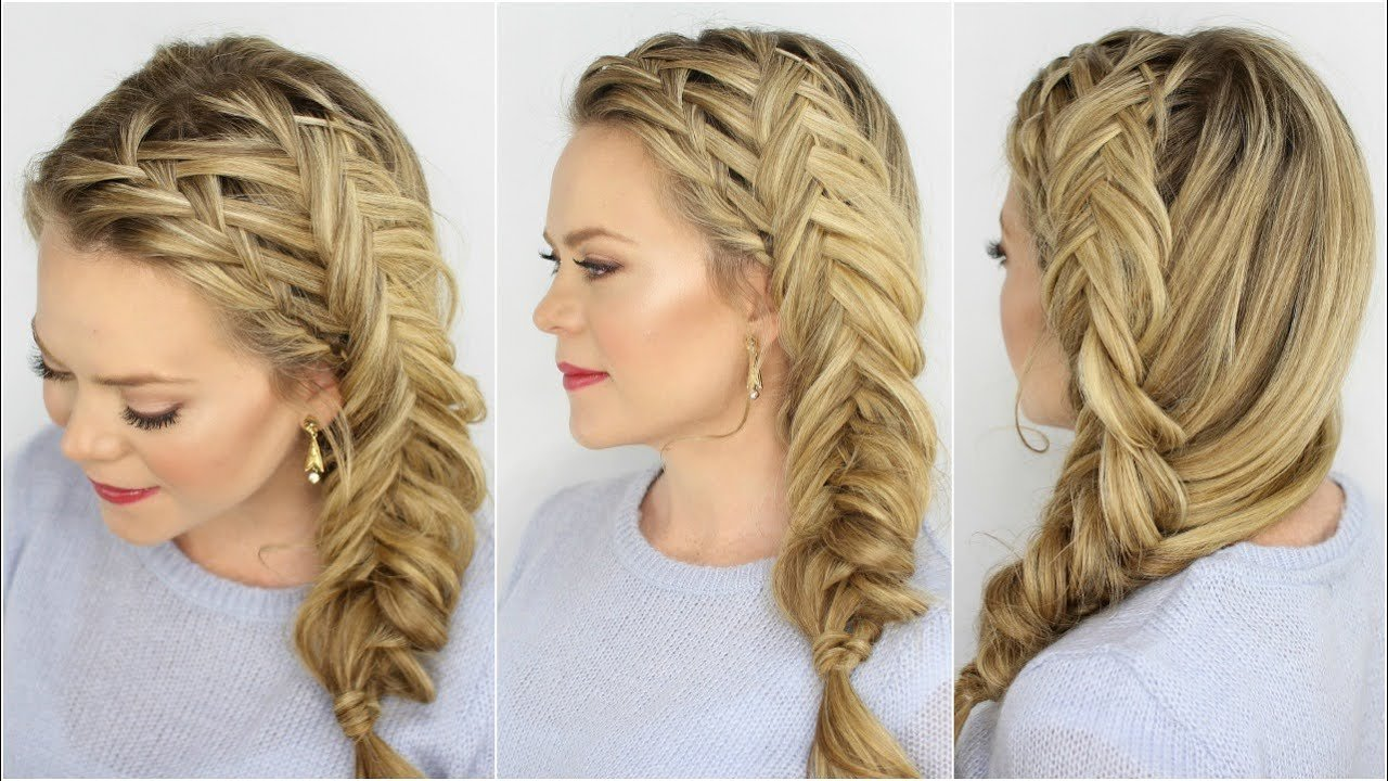 The Best Waterfall And Inverted Fishtail Braid Youtube Pictures