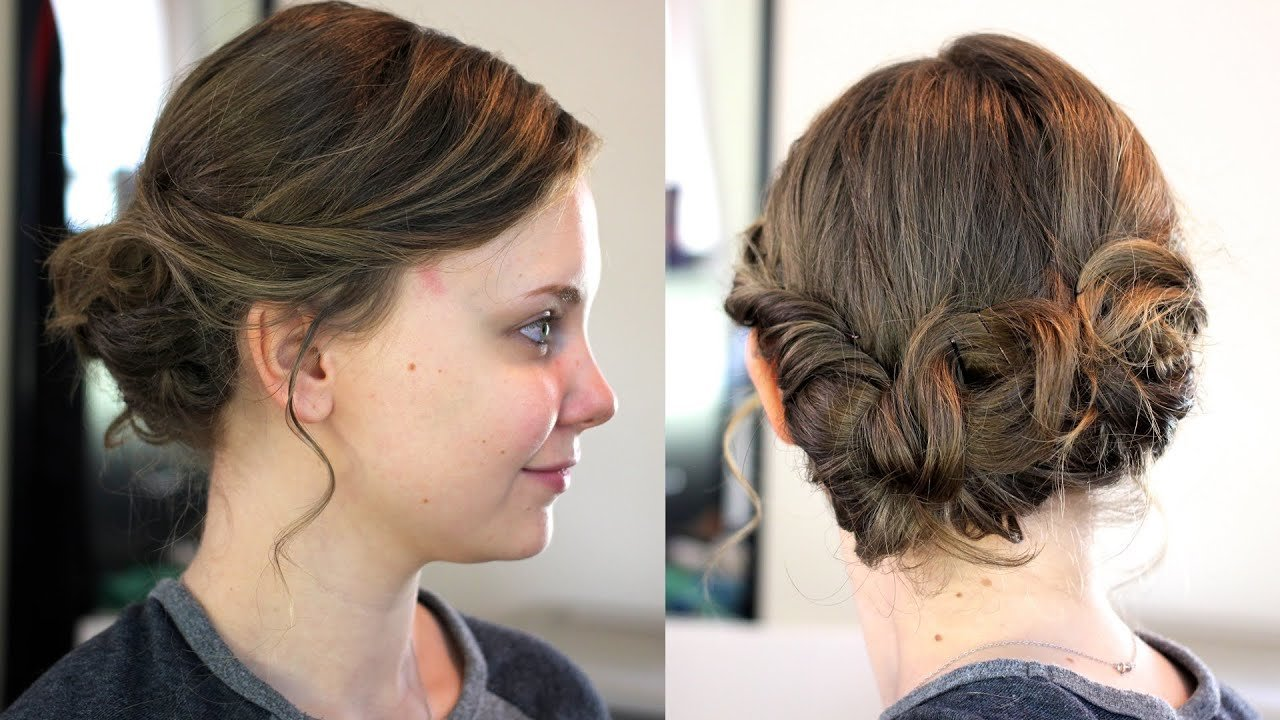 The Best Easy Updo For Medium Shoulder Length Hair Youtube Pictures
