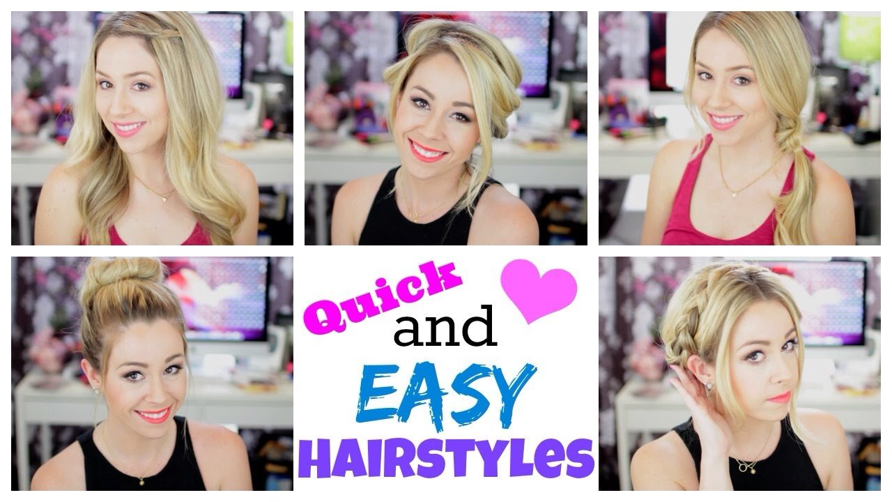The Best Quick And Easy Hairstyles For Summer Youtube Pictures