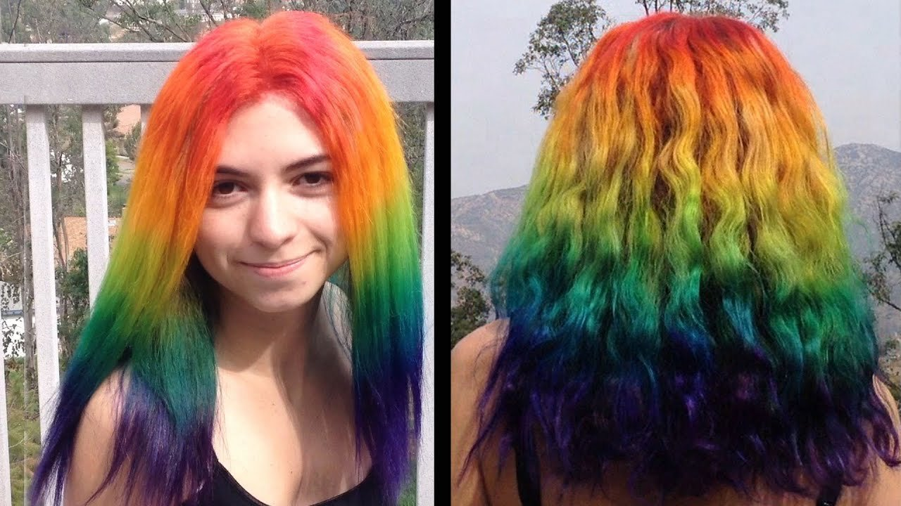 The Best How To Dye Your Hair Rainbow Youtube Pictures