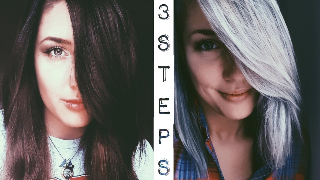 The Best Dark Brown To Silver Hair 3 Step Tutorial Youtube Pictures