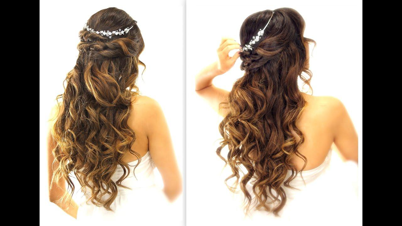 The Best Easy Wedding Half Updo Hairstyle With Curls Bridal Pictures