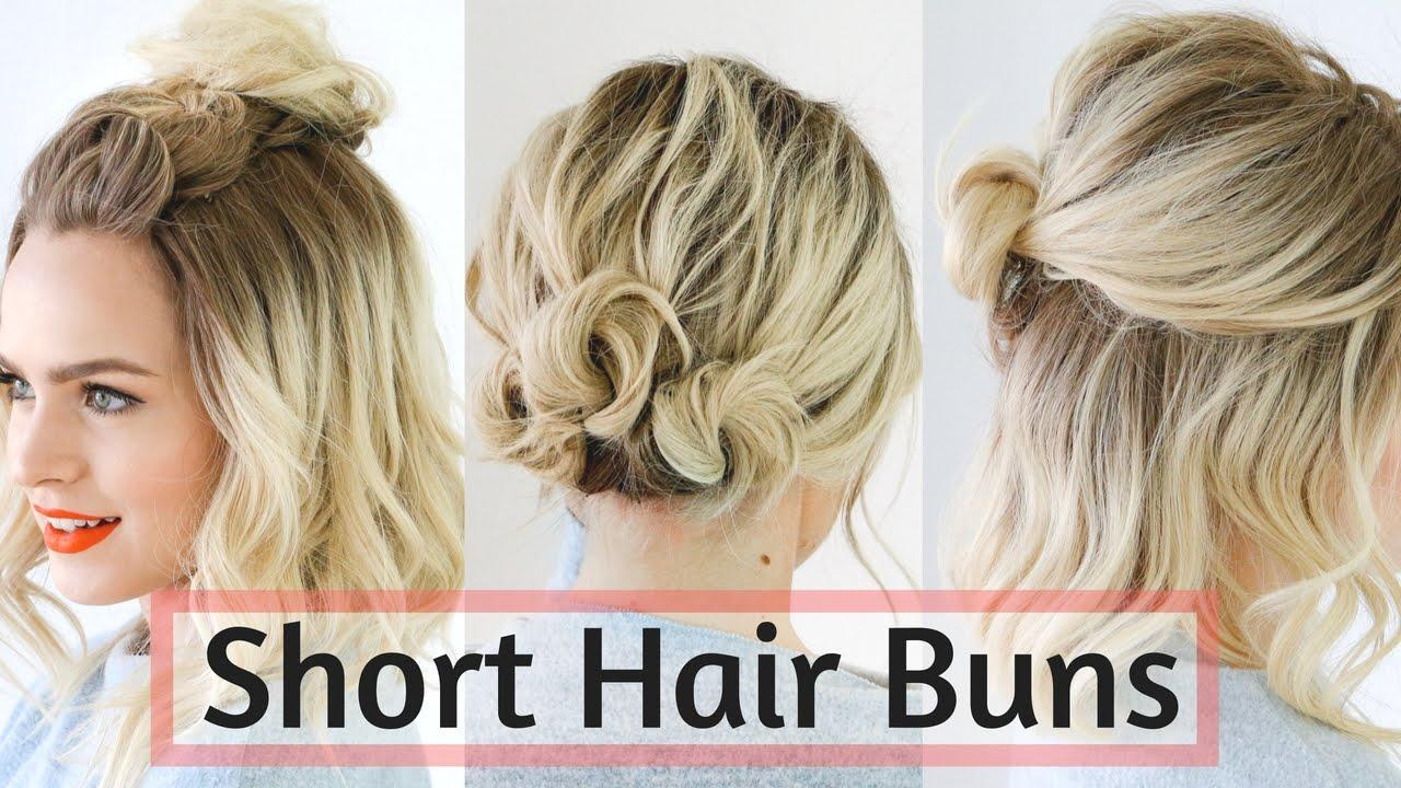The Best Quick Bun Hairstyles For Short Medium Hair Hair Pictures