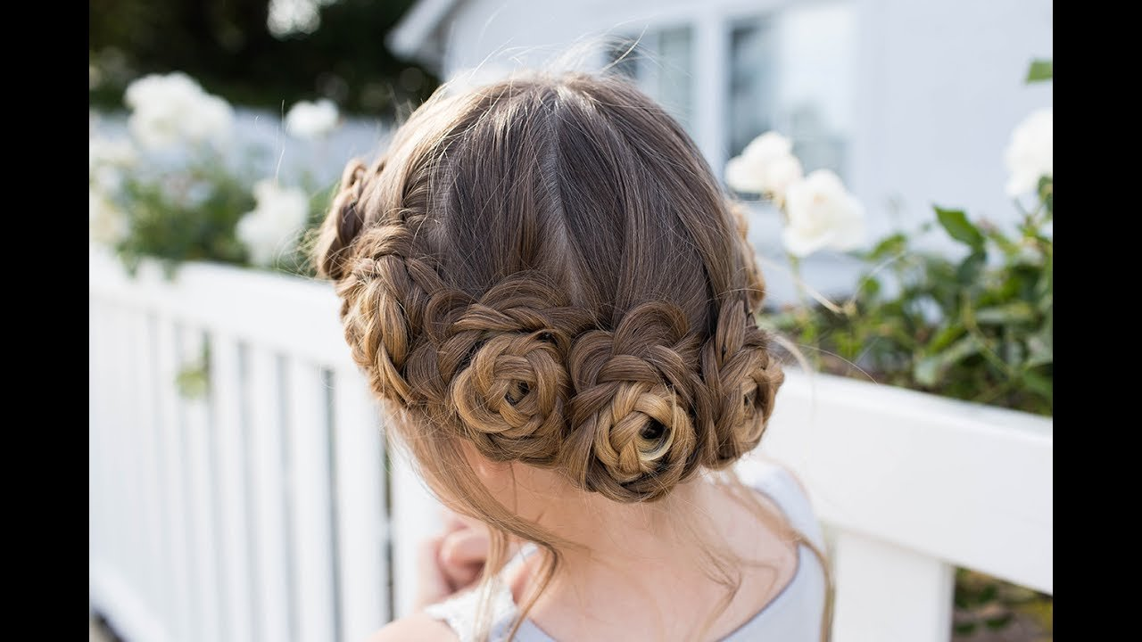 The Best Flower Crown Braid Updo Cute Girls Hairstyles Youtube Pictures