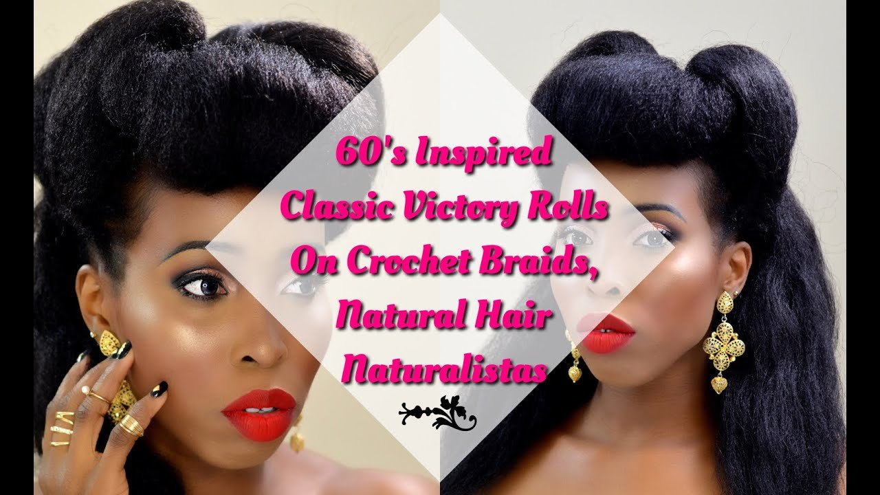 The Best Hair Tutorial 60 S Classic Victory Rolls On Crochet Pictures