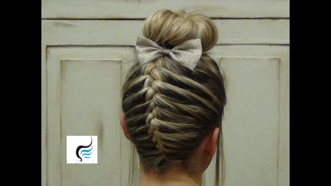 The Best French Braid Sock Bun Girls Hairstyles Youtube Pictures