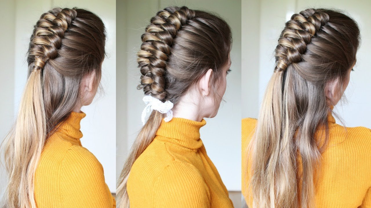 The Best Half Up Half Down Infinity Braid Hairstyle Braids Pictures
