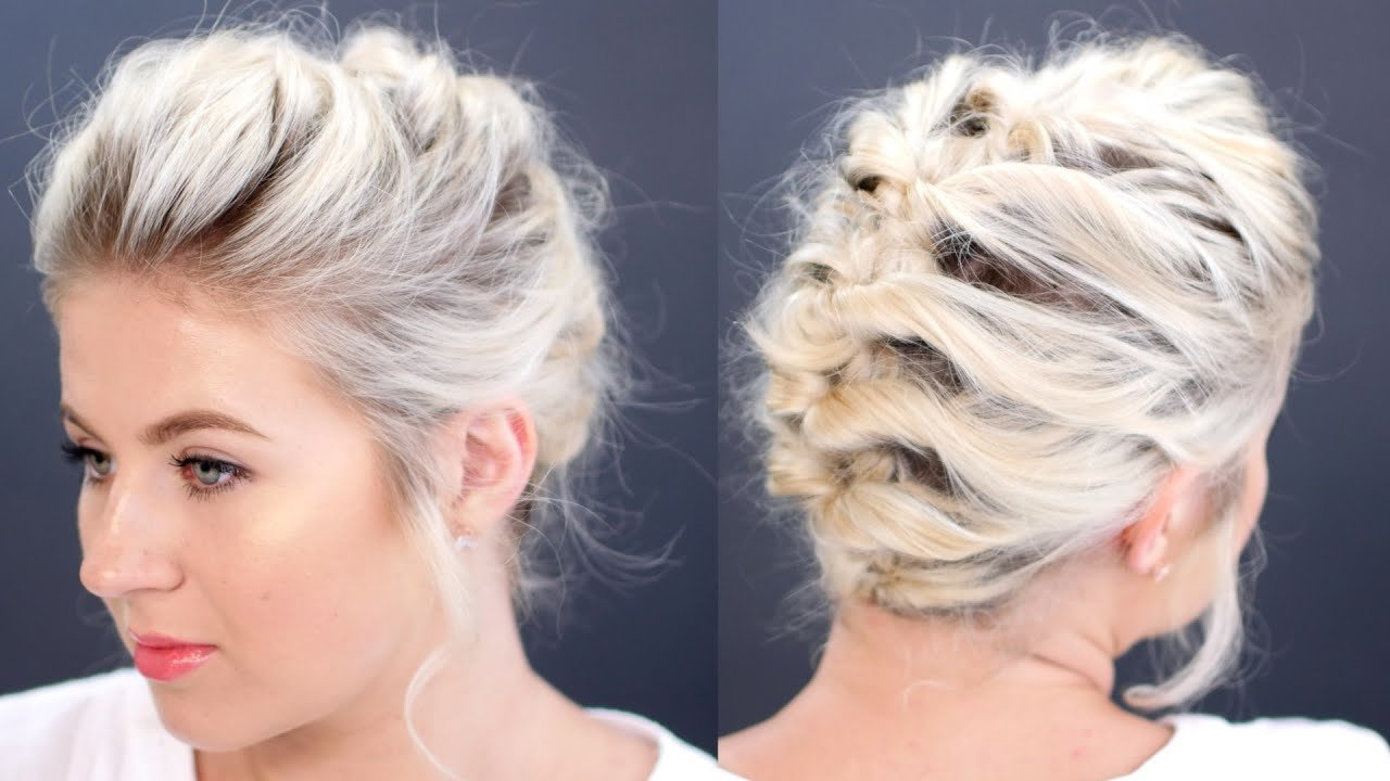 The Best Short Hair Tutorial Updo Less Than 5 Minutes Milabu Youtube Pictures