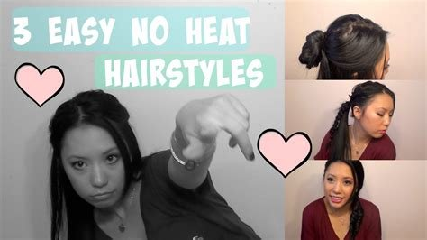 The Best 3 Quick Easy No Heat Hairstyles Youtube Pictures