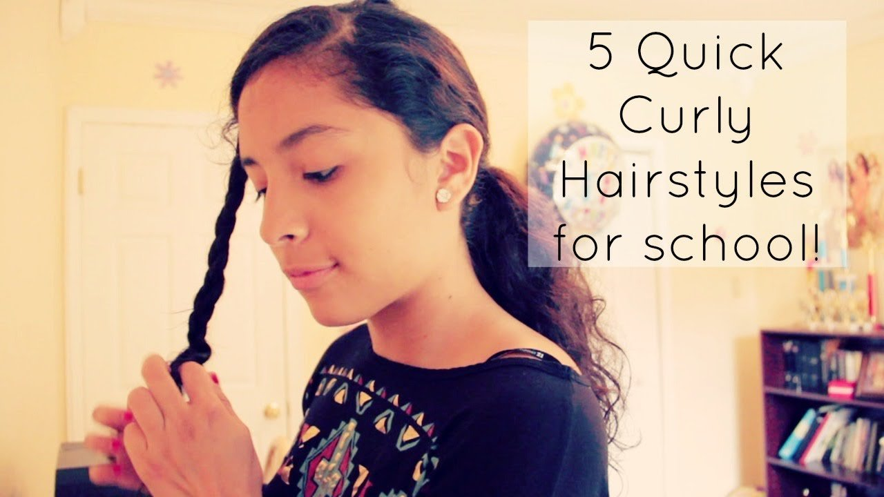 The Best 5 Quick Curly Hairstyles For School Youtube Pictures