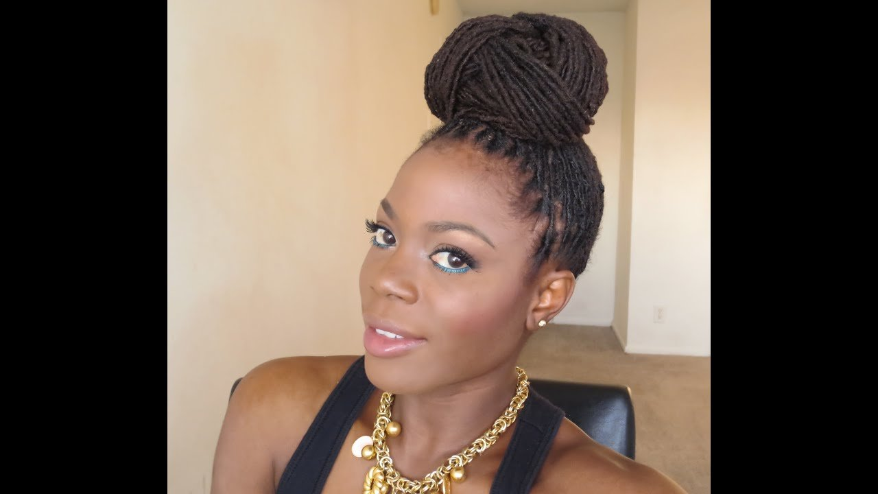 The Best Loc Hairstyle Tutorial Beyonce Inspired Bun Updo Jungle Pictures