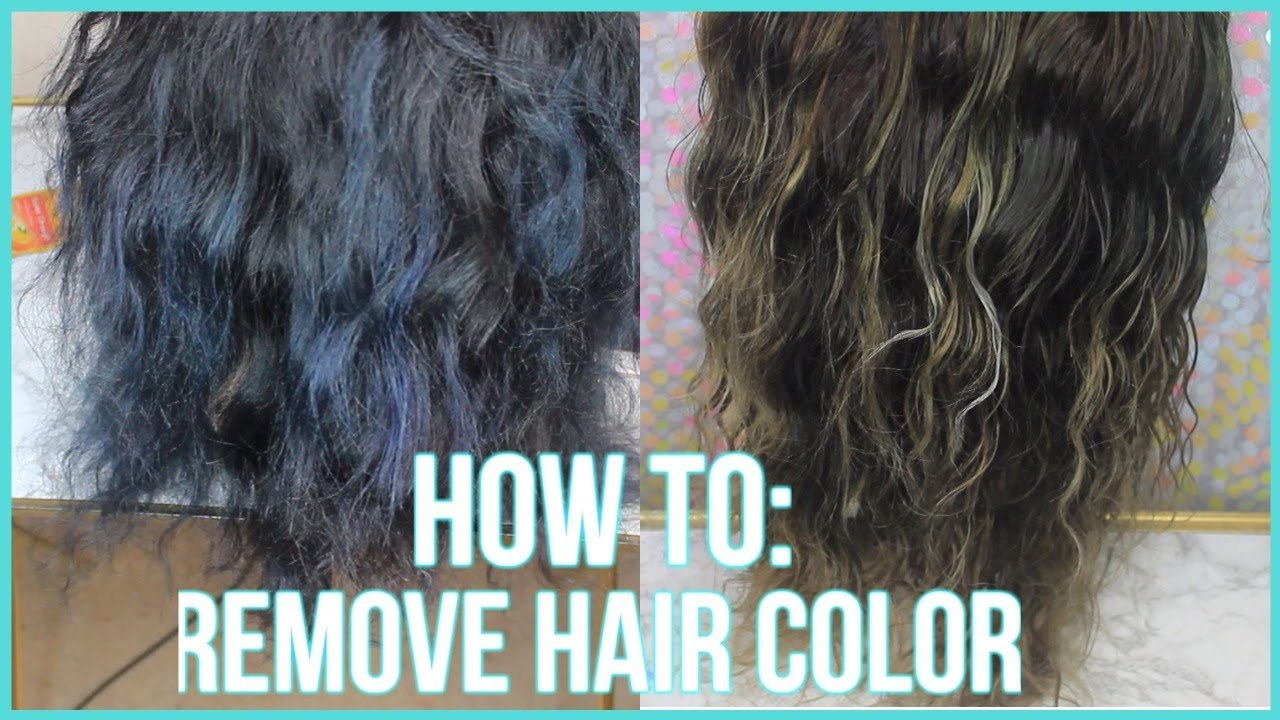 The Best How To Remove Color From Hair 3 Methods 2016 Youtube Pictures