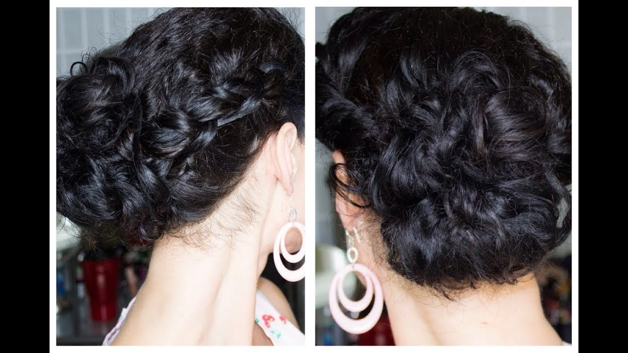 The Best Quick And Easy Updo Perfect For Naturally Curly Hair Youtube Pictures
