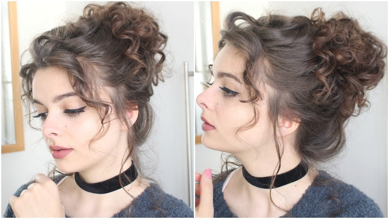 The Best Giant Messy Curly Bun Tutorial Youtube Pictures