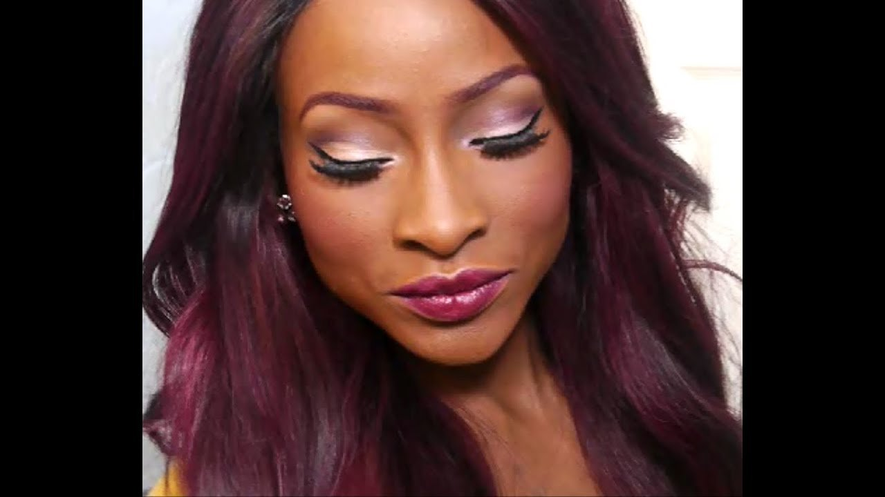 The Best Makeup Tutorial Burgundy Love Youtube Pictures
