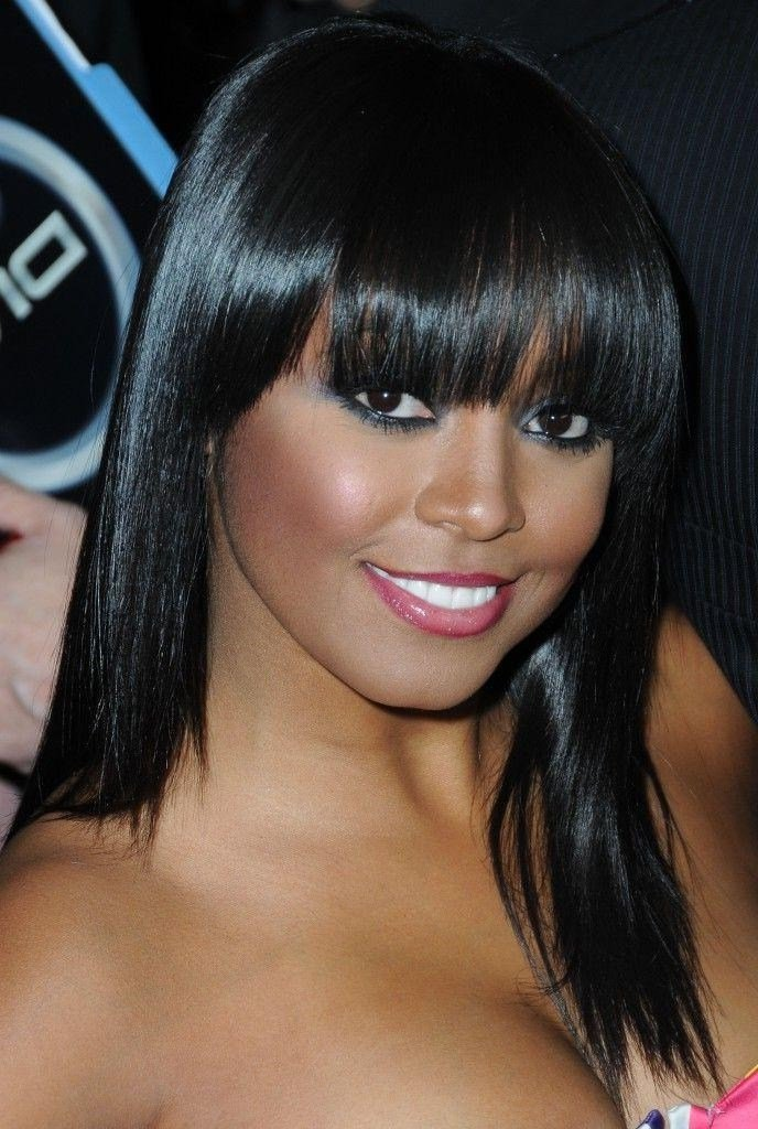 The Best 15 Photo Of African American Long Hairstyles With Bangs Pictures