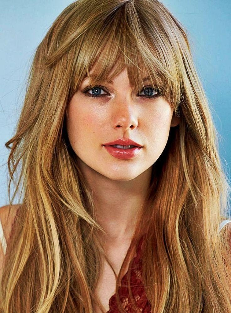 The Best 15 Collection Of Long Haircuts With Bangs For Oval Faces Pictures