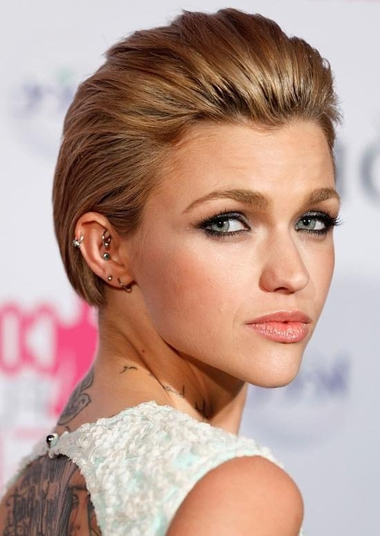 The Best 20 Ideas Of Short Hairstyles Swept Off The Face Pictures