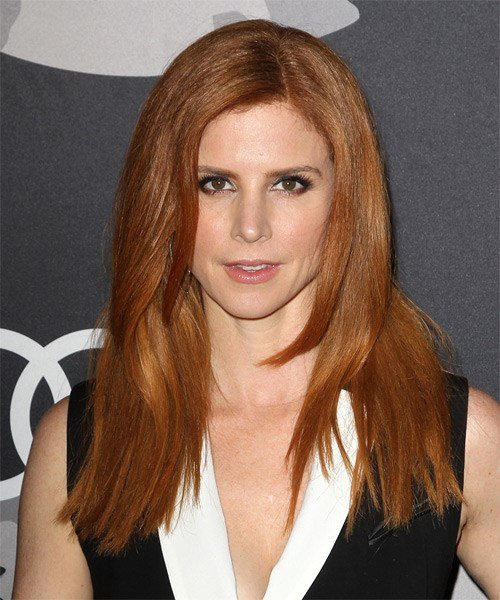 The Best Sarah Rafferty Casual Long Straight Hairstyle Dark Pictures