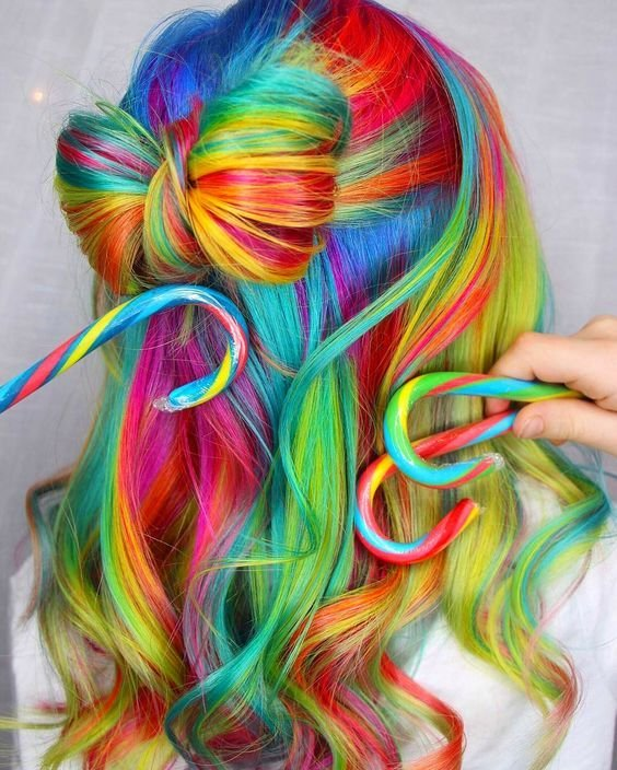 The Best Rainbow Hair 30 Crazy Rainbow Hair Color Inspirations Pictures