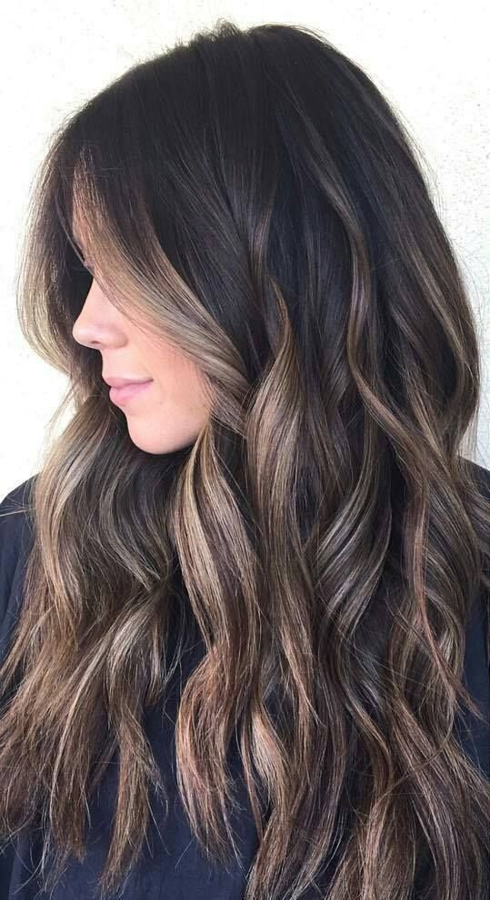 The Best 35 Gorgeous Highlights For Brightening Up Dark Brown Hair Pictures